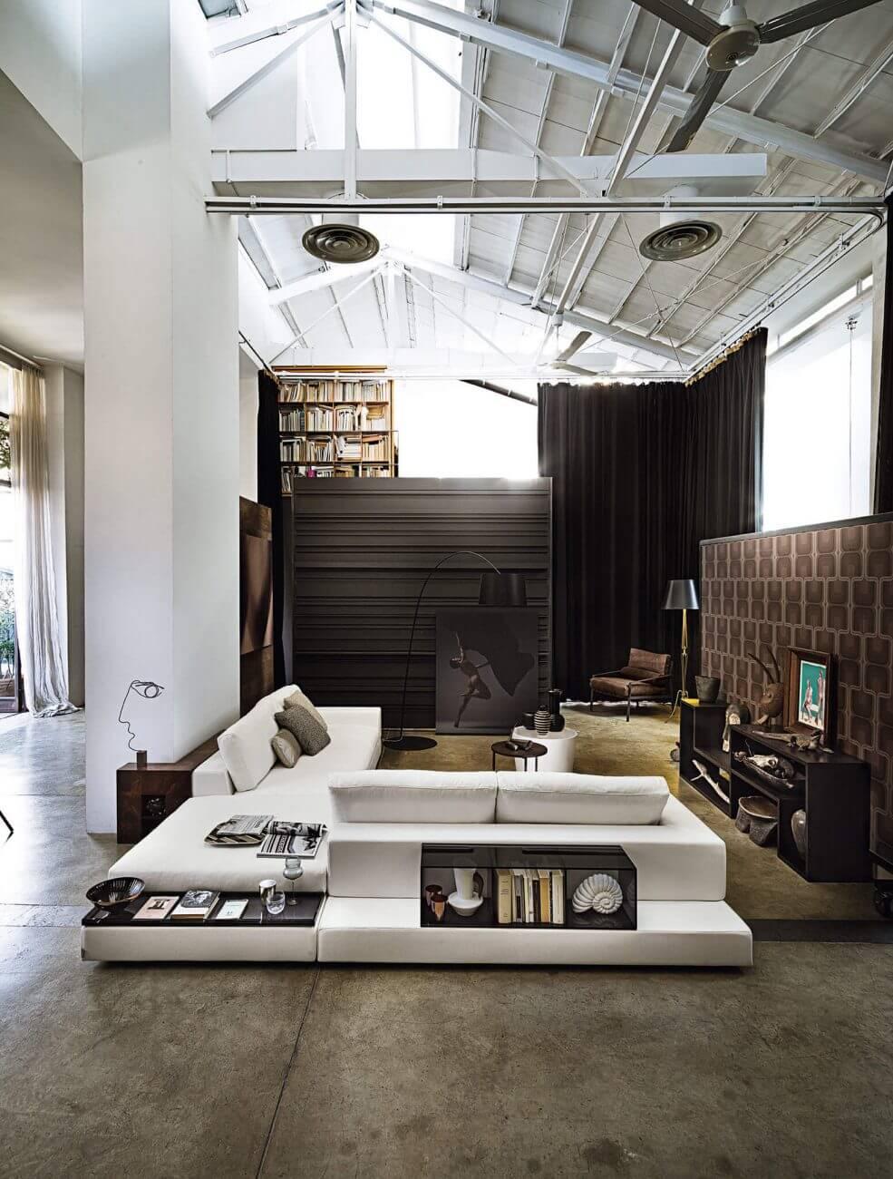 Arketipo, sofa Plat design by Manzoni e Tapinassi
