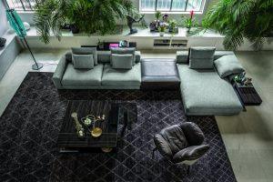 Arketipo sofa Atlas design by Mauro Lipparini, armchair Jupiter design by Mauro Lipparini
