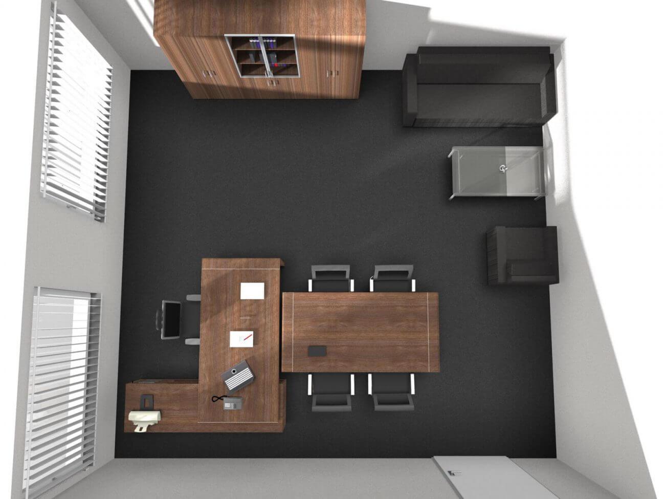 Návrh interiéru Director Capital pohľad- Vaše kancelárie - Ekoma