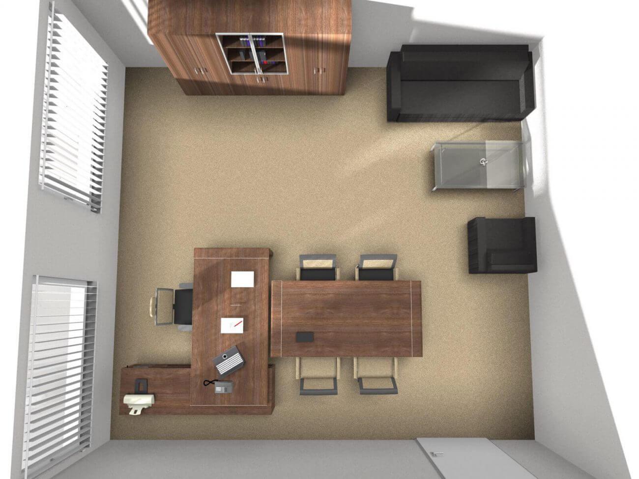 Návrh interiéru DirectorCapital pôdorys - Ekoma