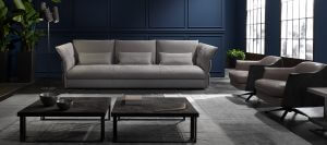 Cierre imbotitti, sofa Eva Due design by Gianmaria Conficconi