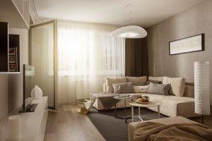 Ukážka štandardu pre 2-izbový byt - Zariadenie podľa vzorového bytu Ekoma