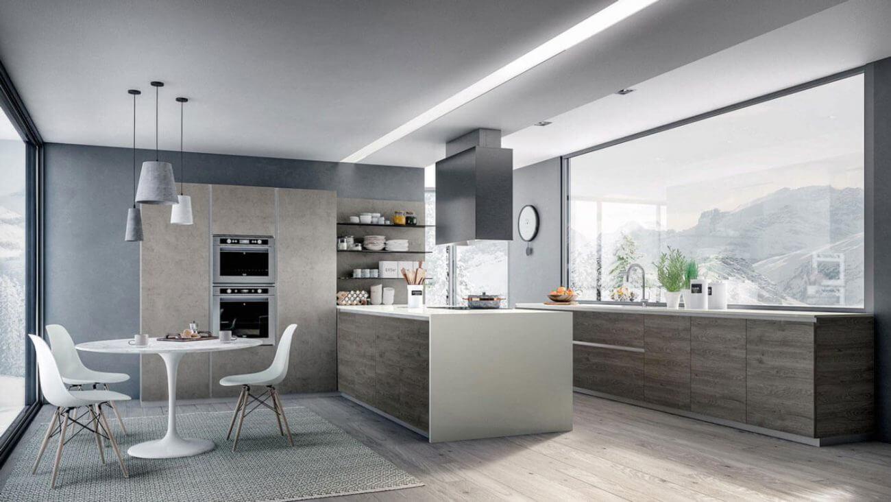 Obývačka s kuchyňou - Inšpirácie Ekoma