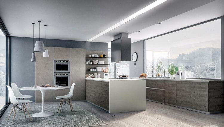 Obývačka s kuchyňou - Inšpirácie - Ekoma