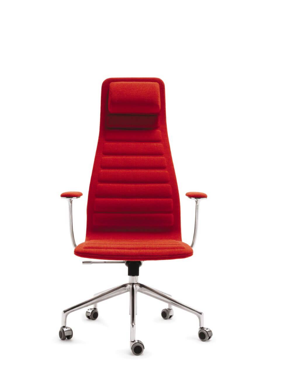 Kancelárska stolička červená - top