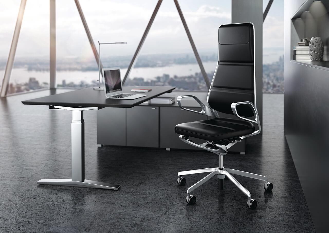 Kancelárska stolička čierna - top