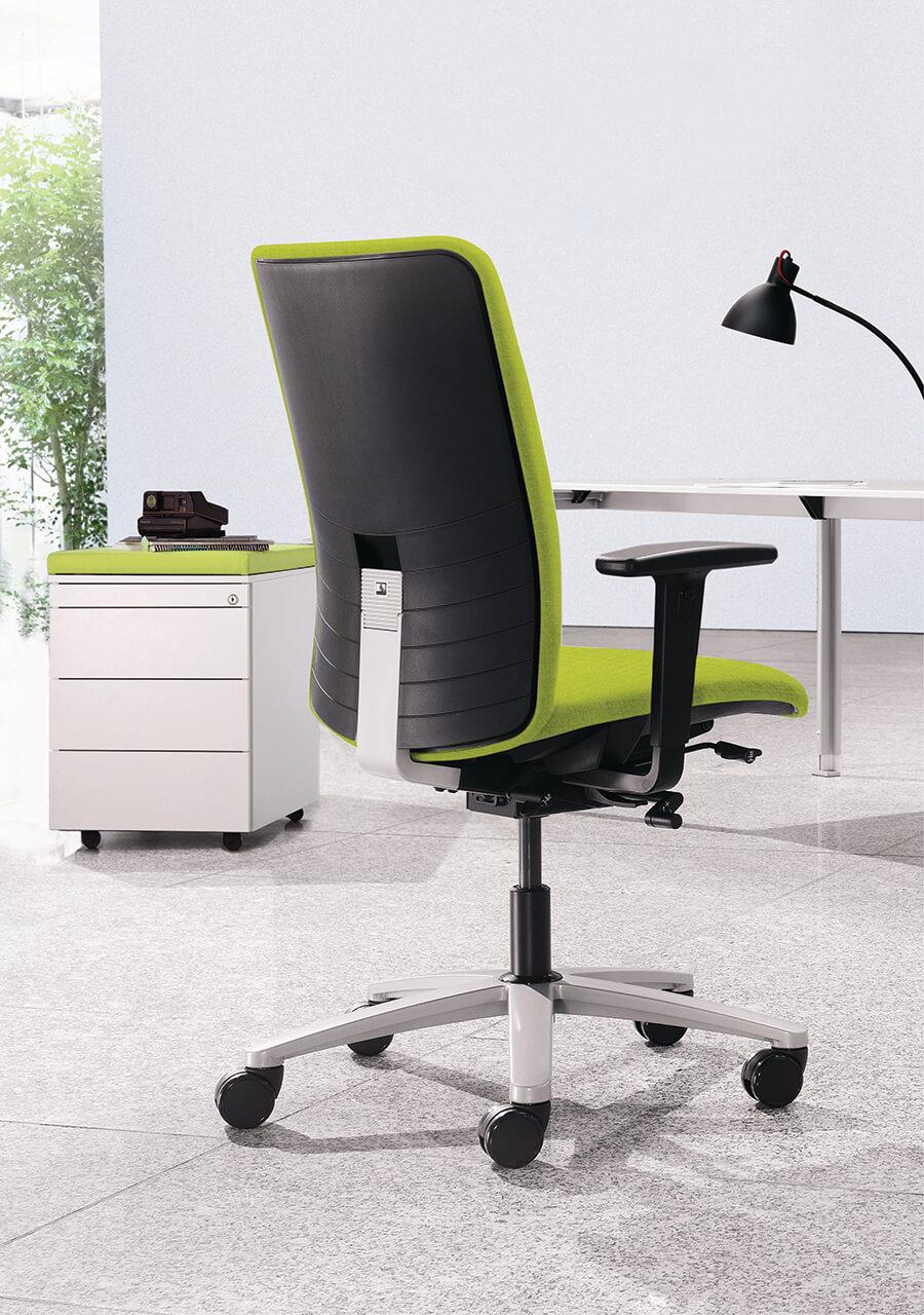 Kancelárska stolička čierno zelená - operatív