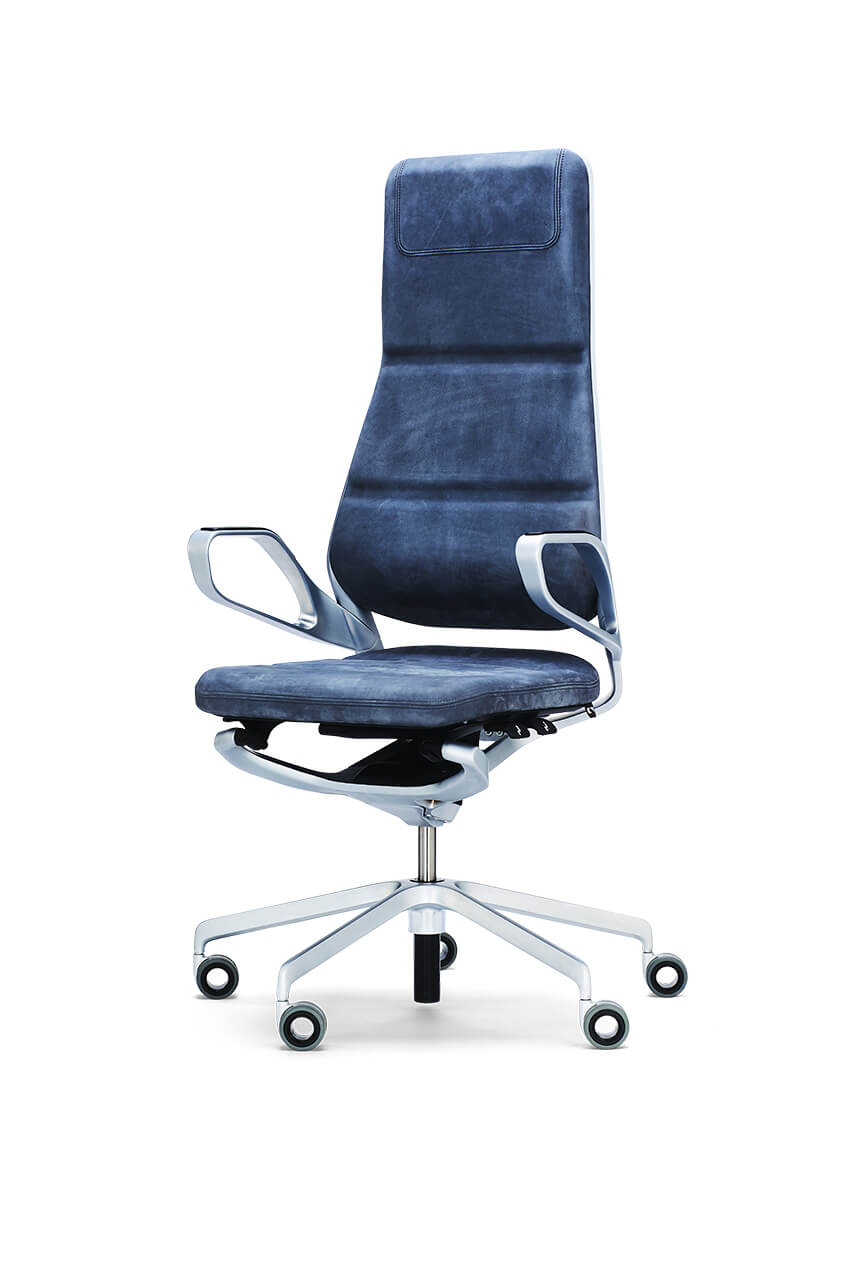 Kancelárska stolička modrá - top