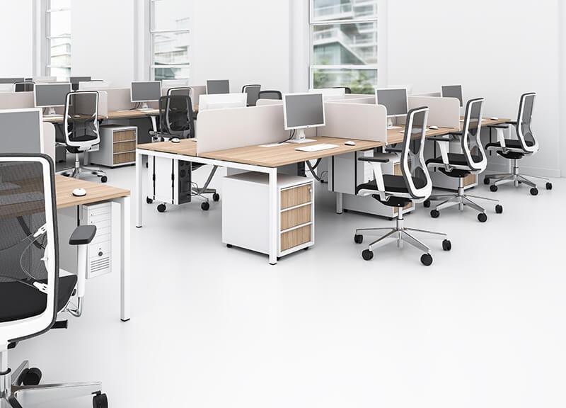 Kancelárske stoličky čierno biele - operatív
