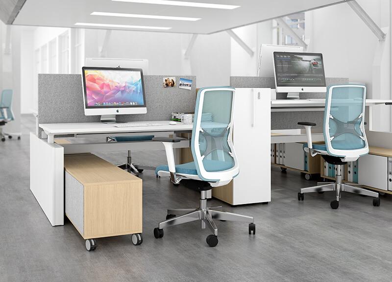 Kancelárska stolička bielo zelená - operatív