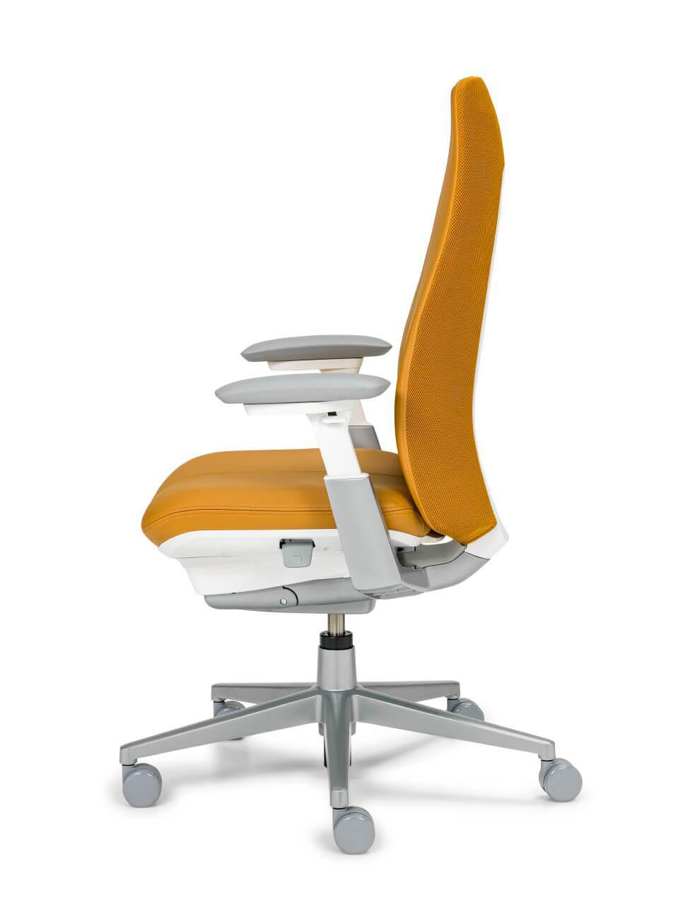 Kancelárska stolička oranžová - top