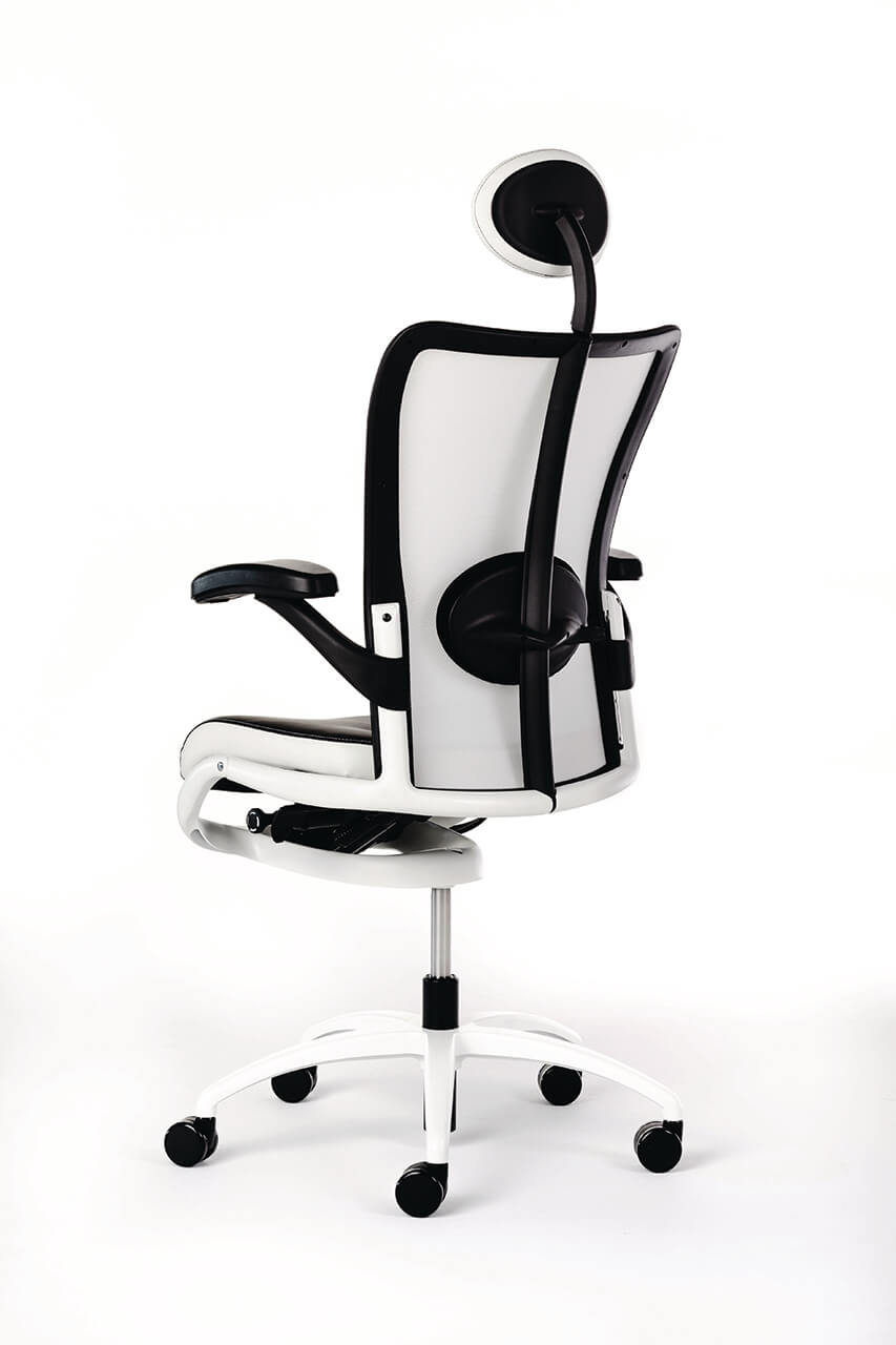 Kancelárska stolička bielo čierna - top