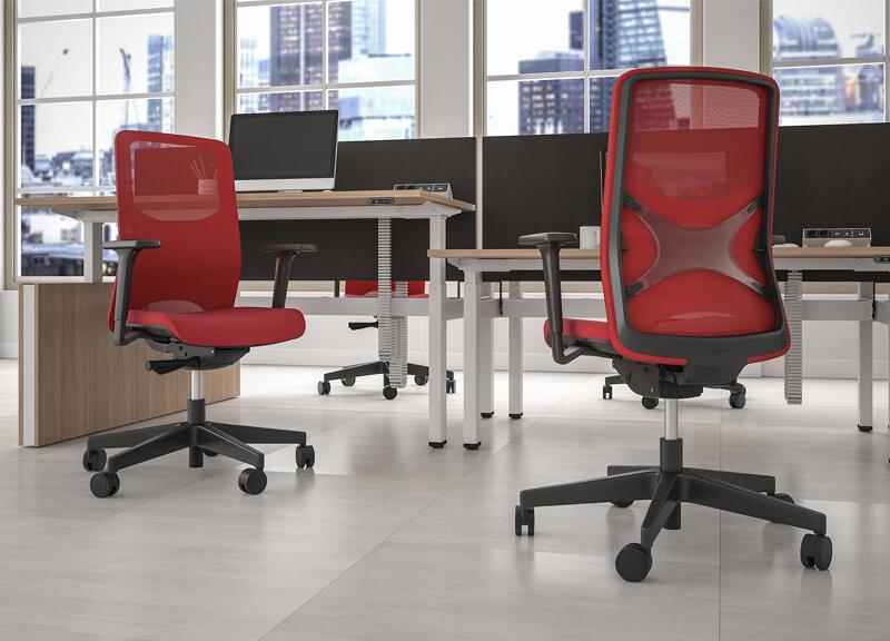 Kancelárske stoličky červeno čierne - operatív