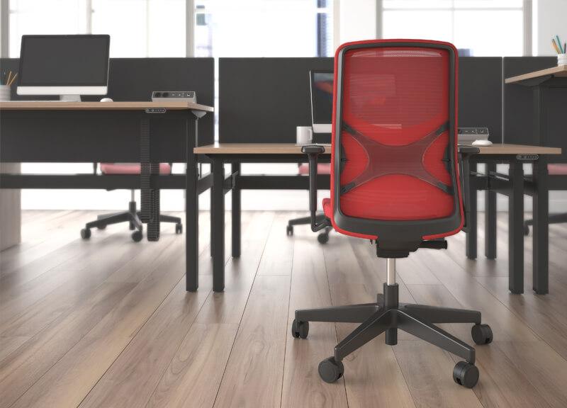 Kancelárska stolička červeno čierna - operatív