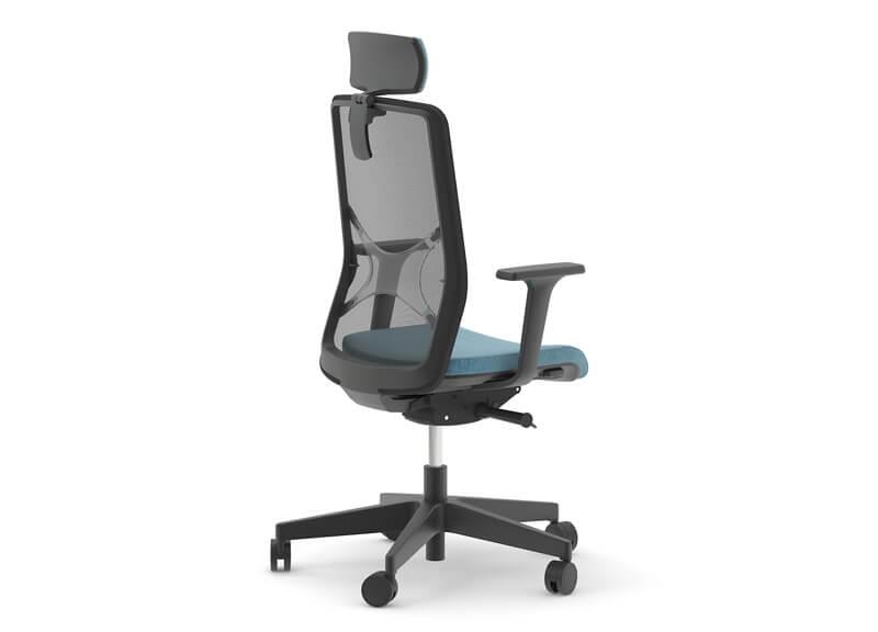 Kancelárska stolička modro čierna - operatív
