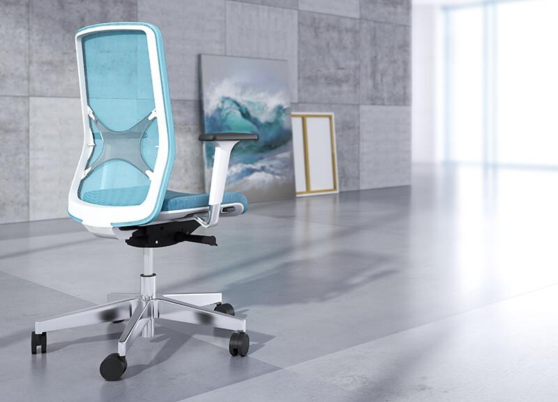 Kancelárska stolička modro biela - operatív