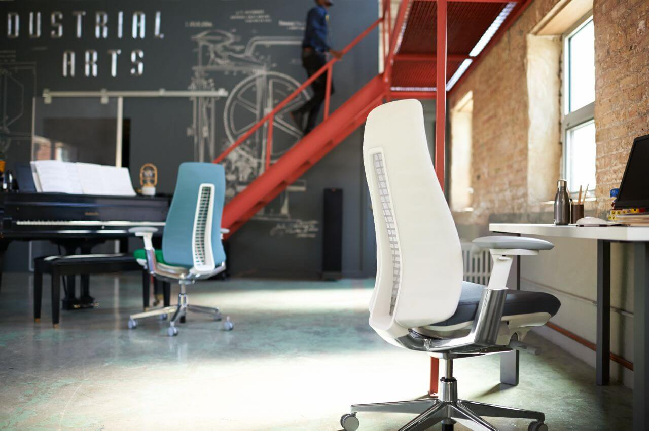 Kancelárska stolička inšpirovaná prírodou - biela