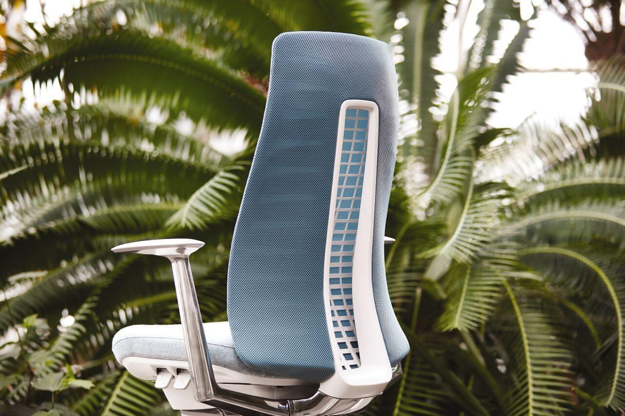 Kancelárska stolička inšpirovaná prírodou - modrá