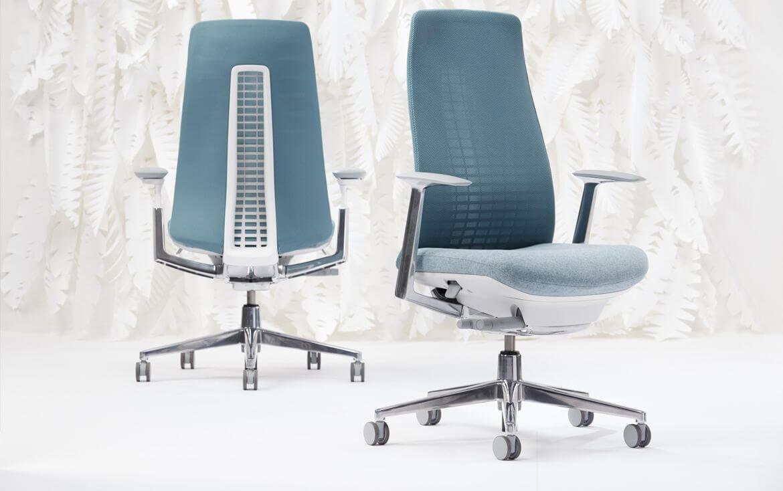 Kancelárska stolička inšpirovaná prírodou - modré