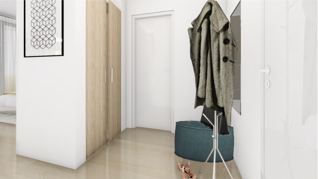chodba - dvojizbový väčší byt premium