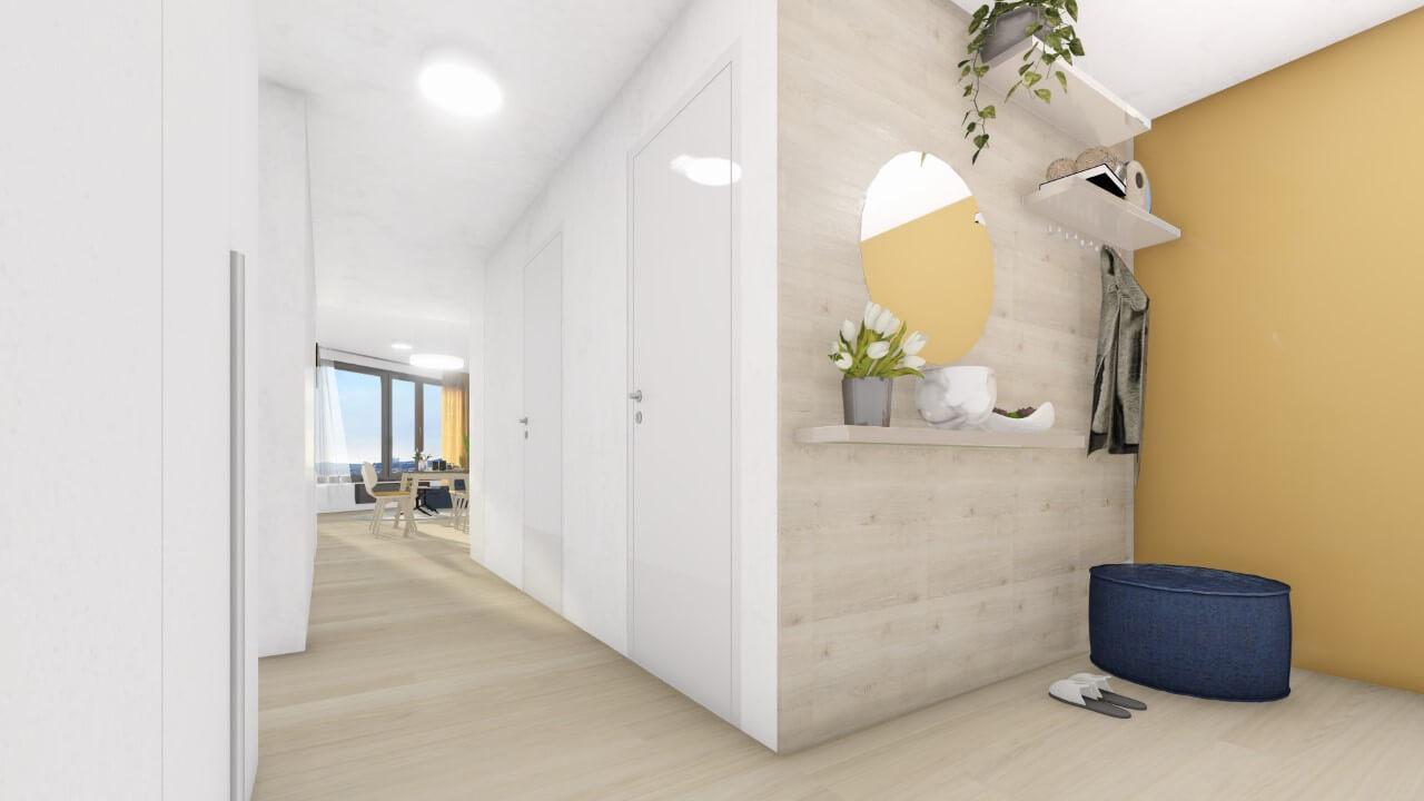 chodba - trojizbový menší byt premium