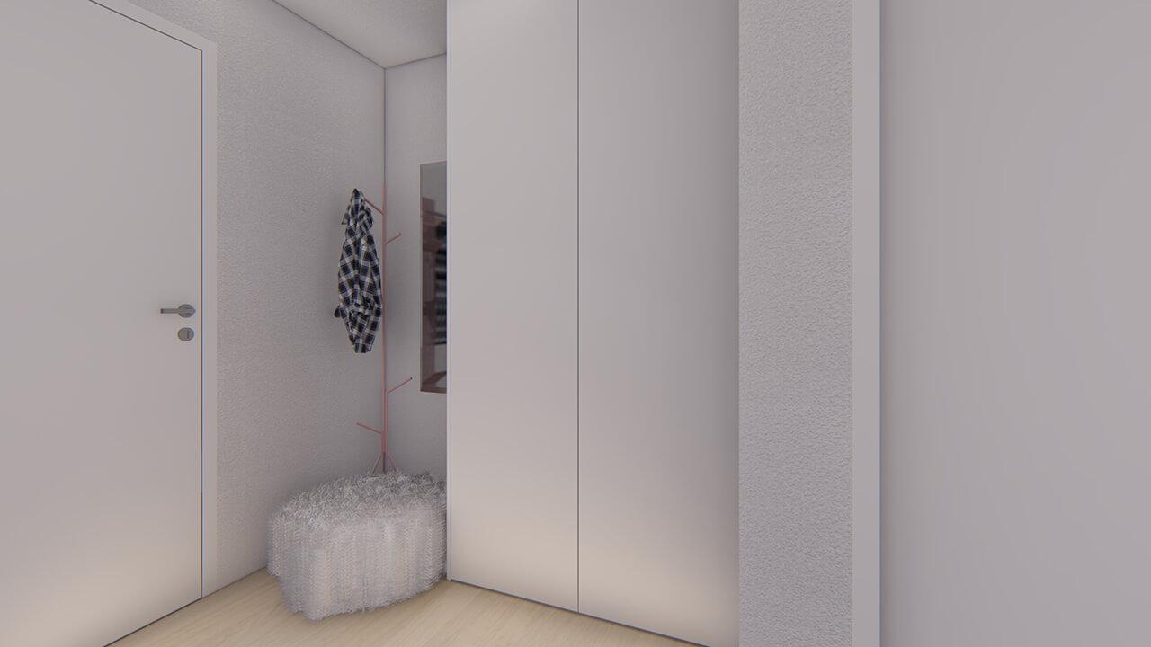 chodba - dvojizbový menší byt economy