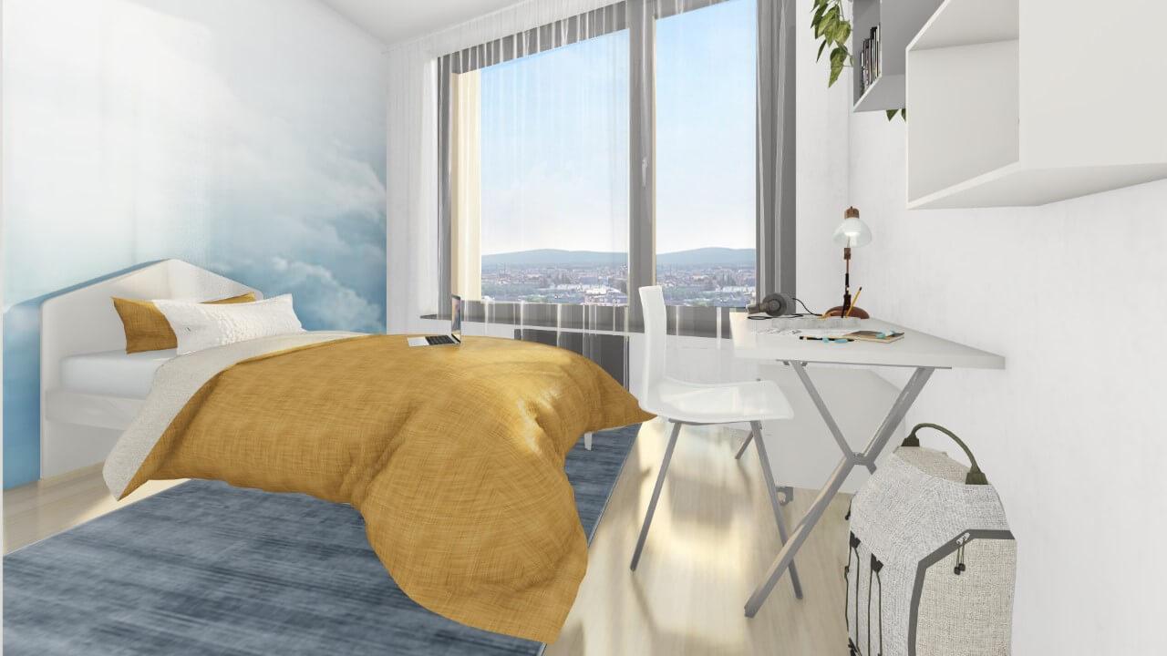 detská izba - trojizbový menší byt premium