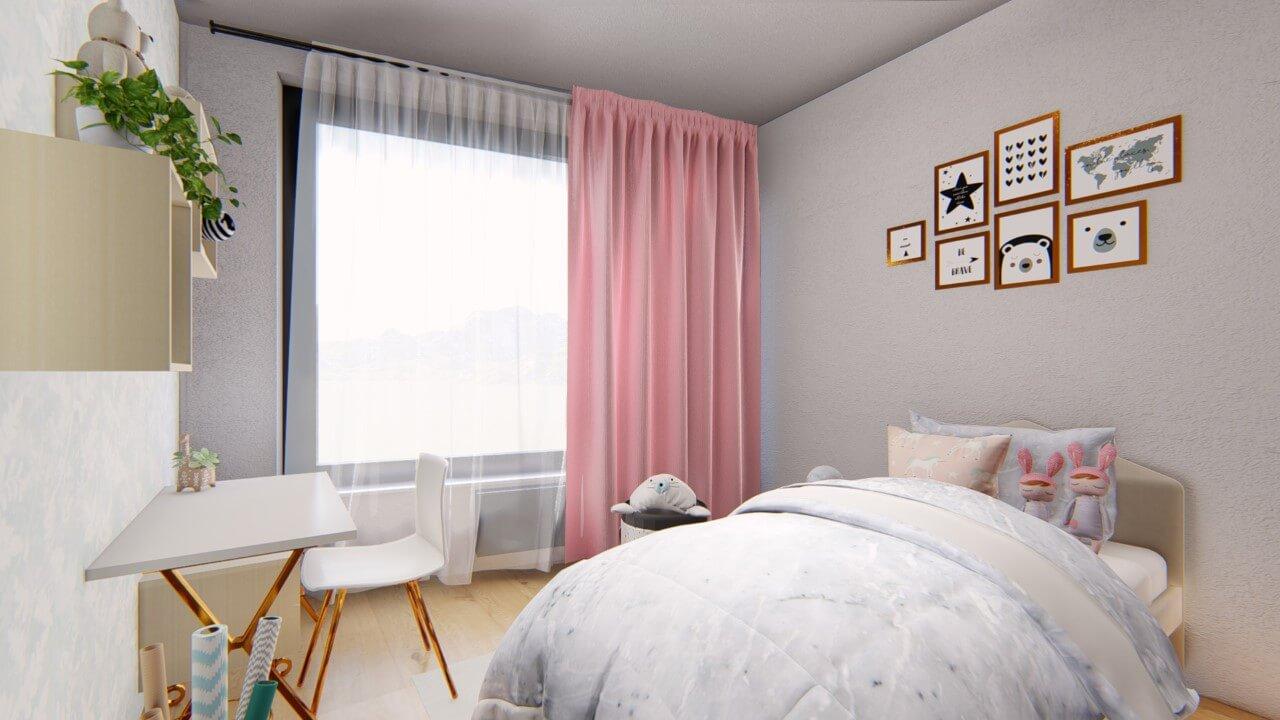 detská izba - štvorizbový byt economy