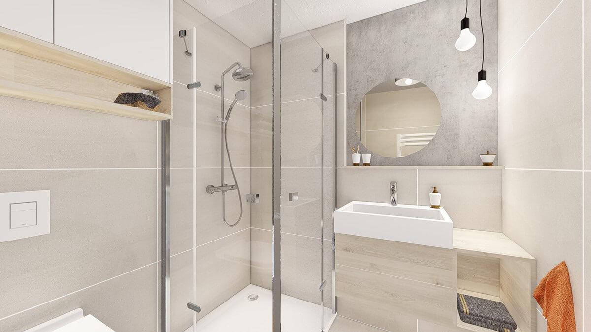 kúpelňa - dvoj izbový menší byt premium