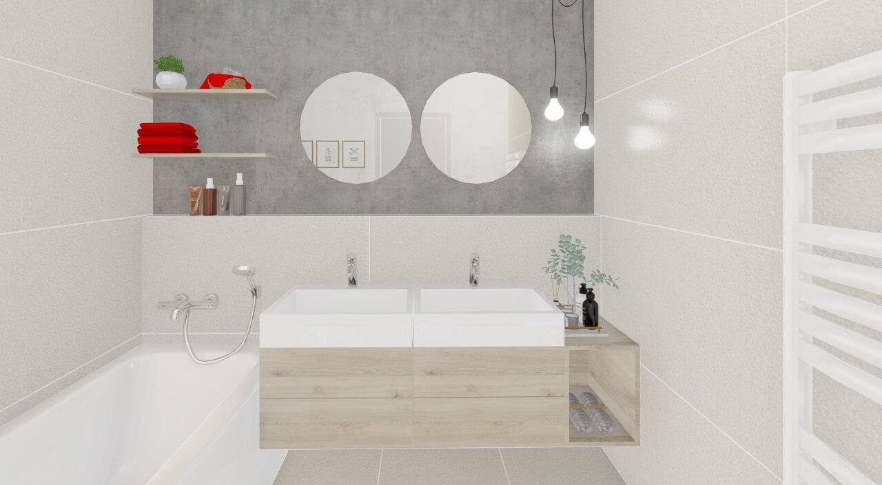 kúpelňa - trojizbový menší byt premium