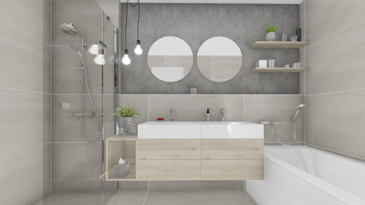 kúpelňa - trojizbový byt premium