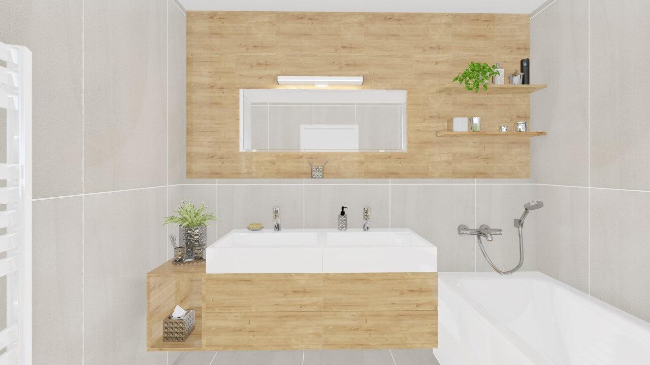 kúpelňa - štvorizbový byt economy
