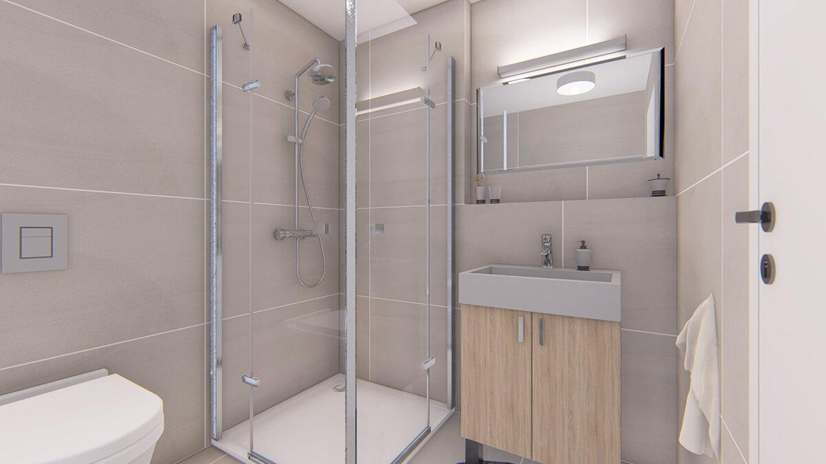 kúpelňa - dvojizbový menší byt economy