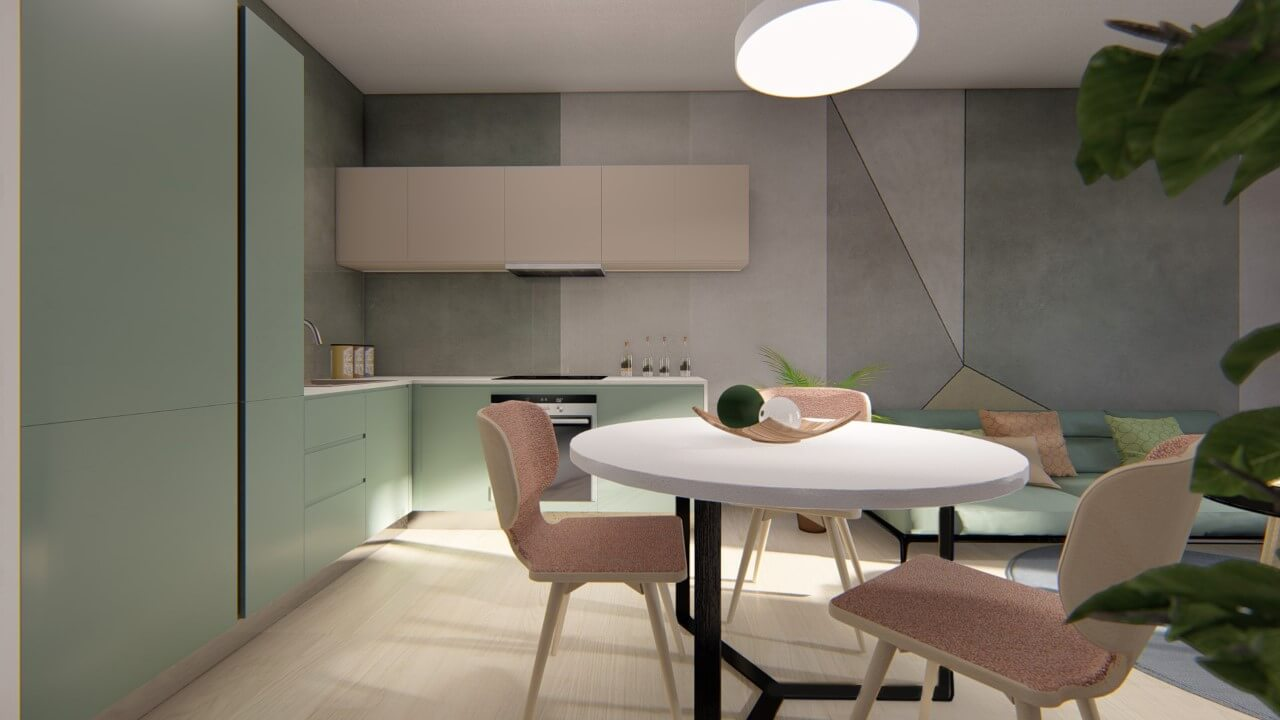 kuchyňa - dvojizbový väčší byt premium