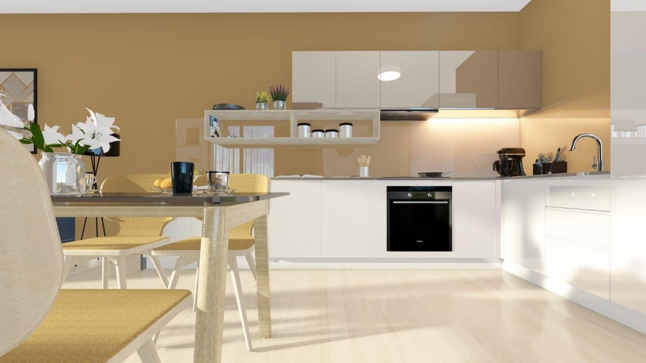 kuchyňa - trojizbový menší byt premium