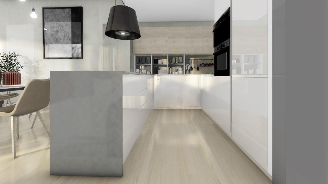 kuchyňa - trojizbový byt premium