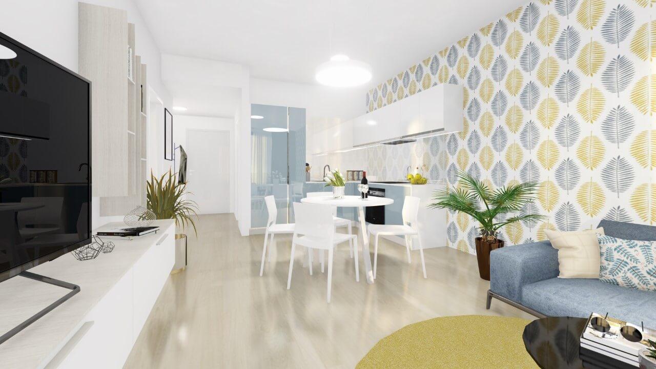 kuchyňa - dvojizbový väčší byt economy