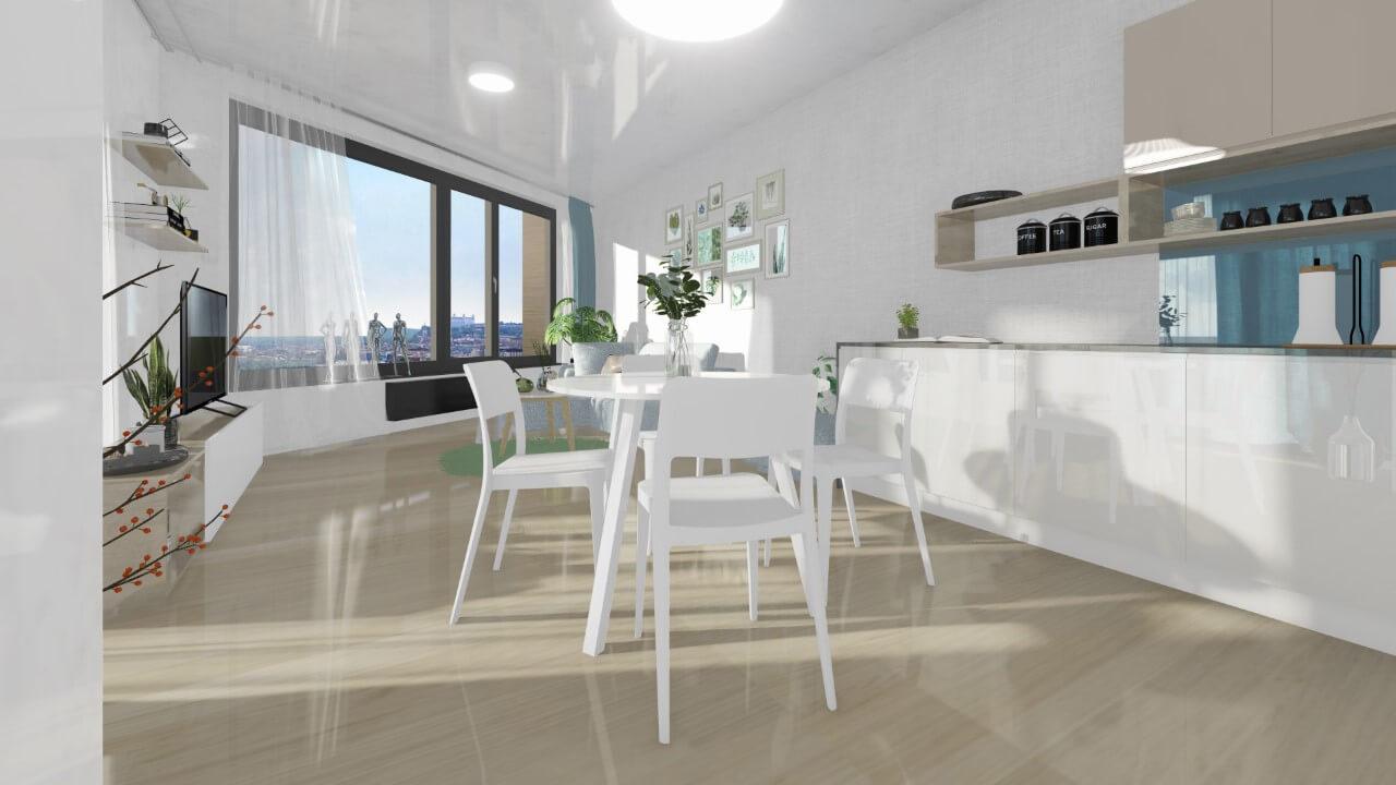 kuchyňka - trojizbový väčší byt premium
