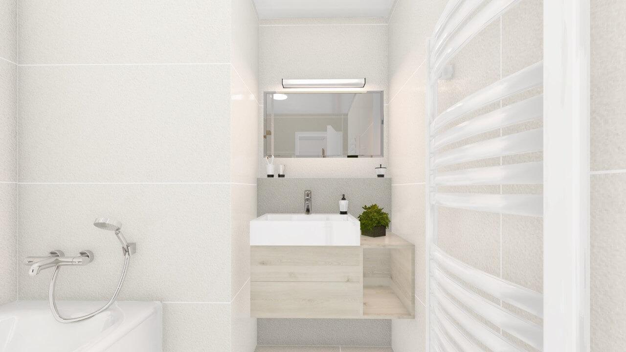 kúpelňa - dvojizbový väčší byt economy