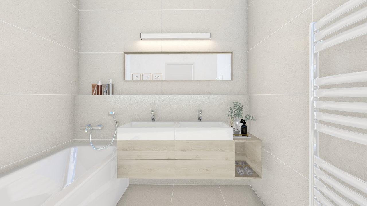 kúpelňa - trojizbový väčší byt premium