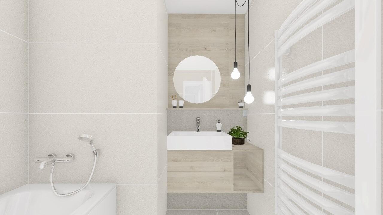 kúpelňa - dvojizbový väčší byt premium