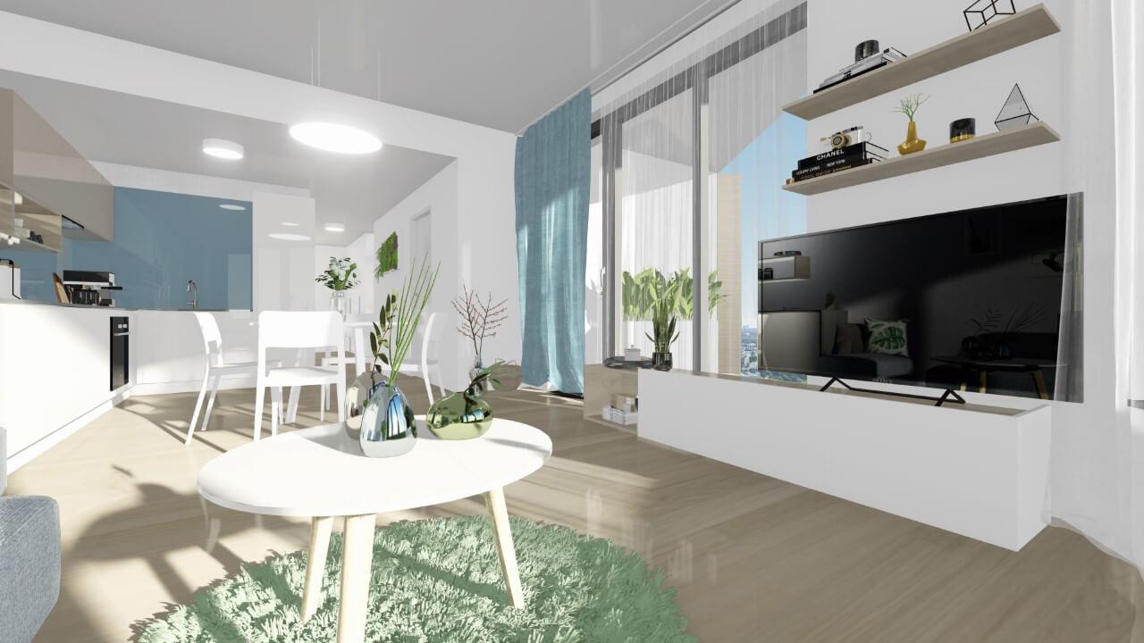 obývačka - trojizbový väčší byt premium