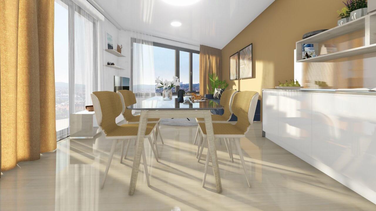 obývačka - trojizbový menší byt premium