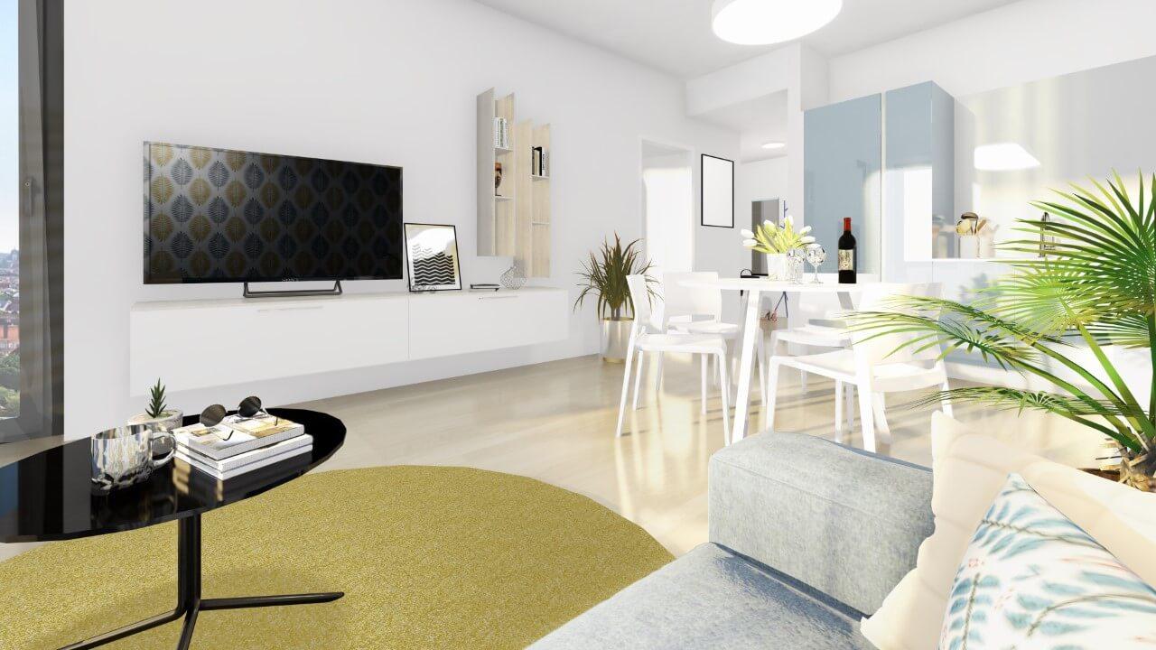 obývačka - dvojizbový väčší byt economy