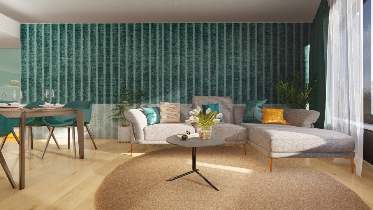 obývačka - štvorizbový byt economy