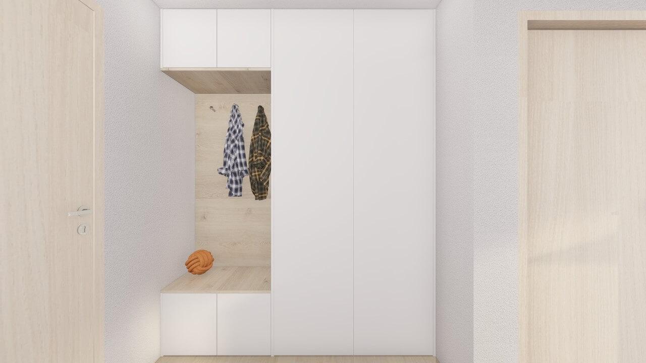 predsieň - dvoj izbový menší byt premium