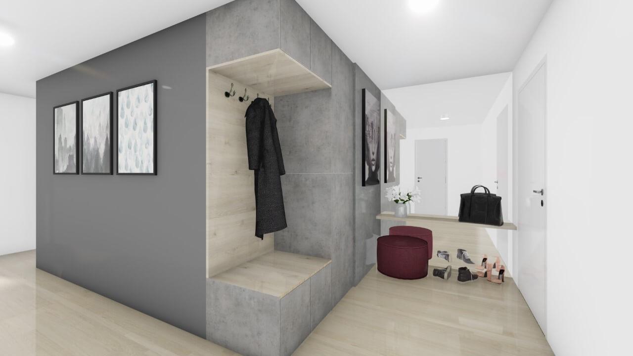 predsieň - trojizbový byt premium