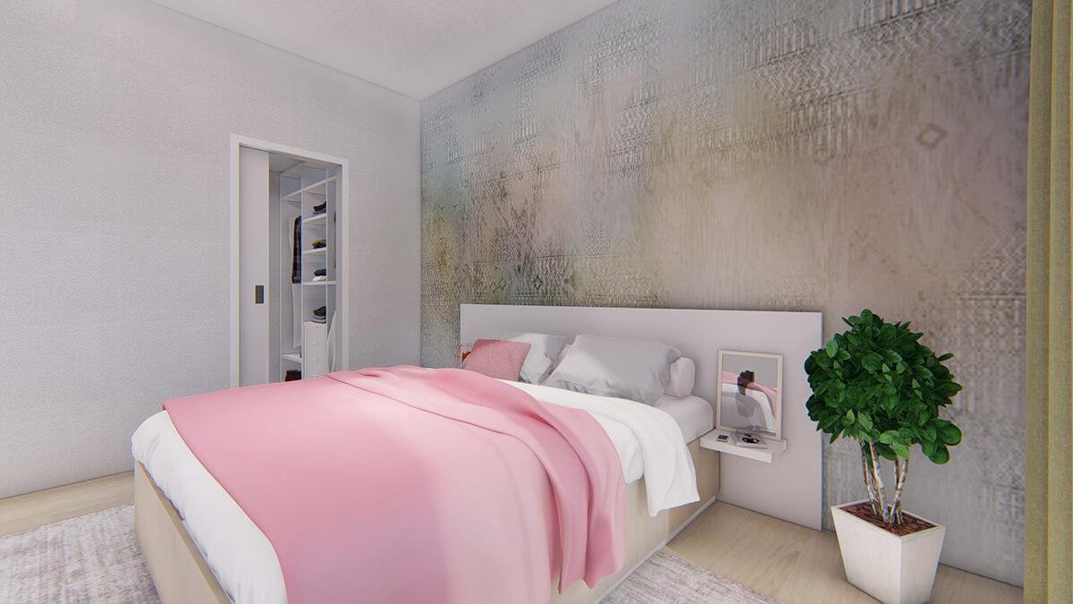 spálňa - dvojizbový menší byt economy