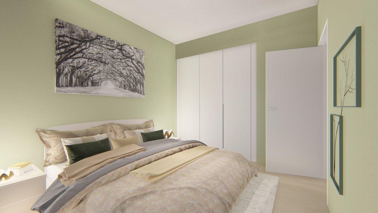 spálňa - dvojizbový väčší byt premium