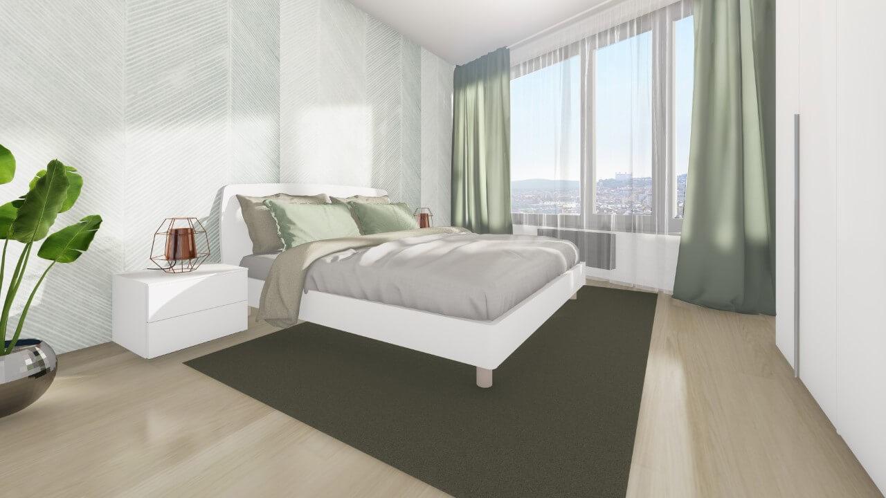 spálňa - trojizbový väčší byt premium